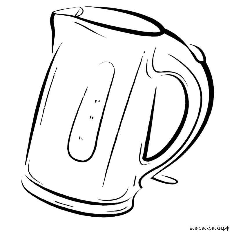 картинка электрический чайник раскраска портретируемых