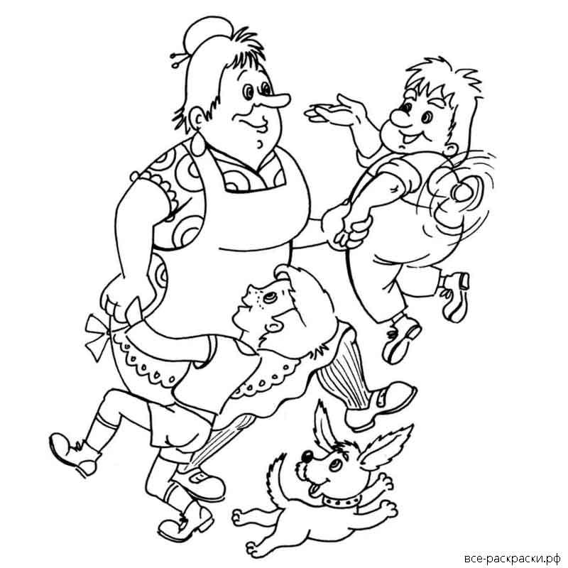 жестко раскраска к сказке малыш и карлсон который живет на крыше сруб