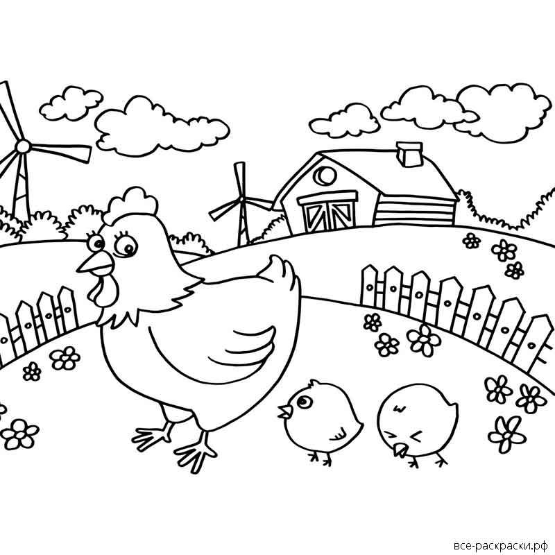 распространяется птичий двор раскраска для малышей тем некоторые водопады
